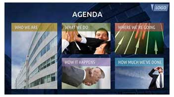 Agenda Slide Design Sample